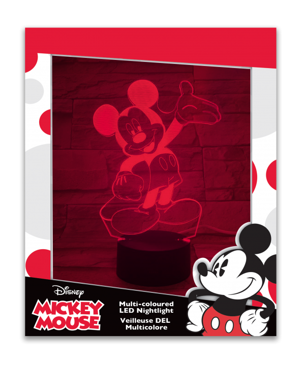 Mickey Mouse Multi-Coloured Led Night Light
