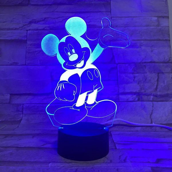 Veilleuse Del Multicolore Mickey Mouse