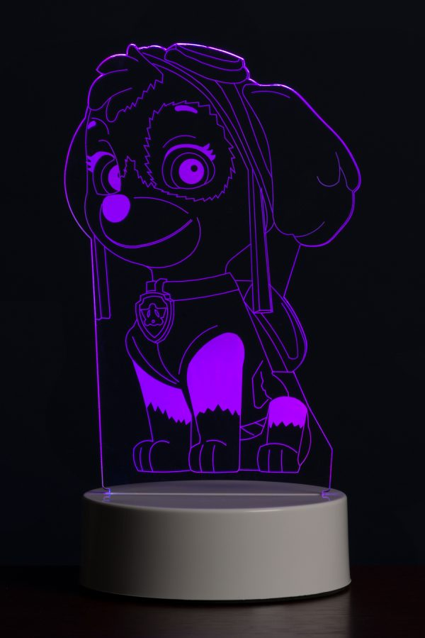 Paw Patrol Skye Multi-Coloured Led Night Light