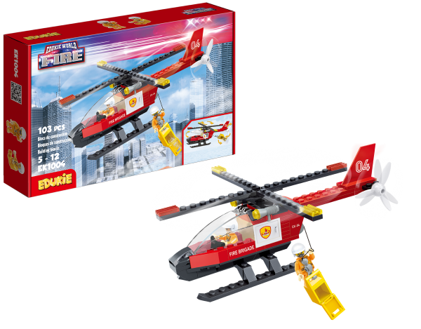 Edukie World Fire Helicopter