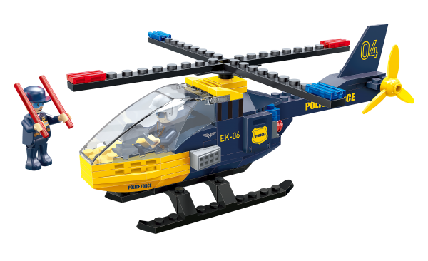 Edukie World Police Helicopter