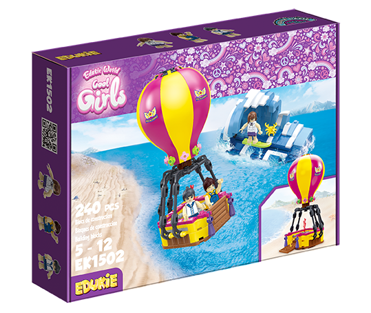 Edukie World Cool Girls Air balloon
